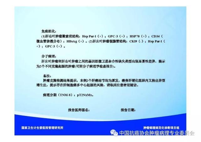 肿瘤病理诊断规范 第8部分:肝癌病理诊断规范